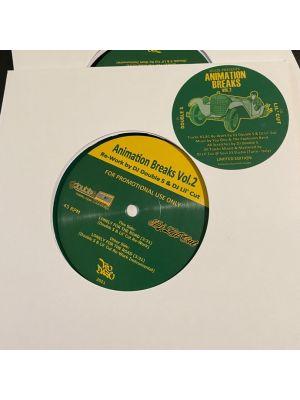 Animation Breaks Vol.2 - (Re-Work By DJ Double S & DJ Lil' Cut) (Transparent Green Vinyl)